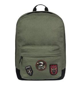 Zaino DC shoes Backstack patch verde militare  scuola tempo libero