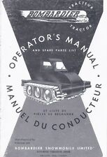 "Operator's Manual and Spare Parts List BOMBARDIER J-5 48"" Tractor Sidewalk Plow"