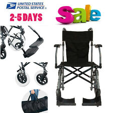 USPS Ship Lightweight Aluminum Alloy Folding Portable Chair Wheelchair 45cm Seat