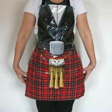 Scottish Piper Novelty Kilt Apron One Size PVC Coated Party Wear Burns Night