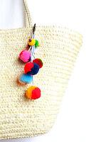 Pom Pom Ball Tassels for women handbag purse accessories