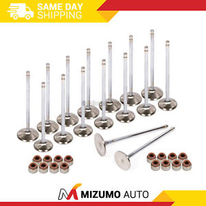 High Performance Intake Exhaust Valves w/ Seals Fit 94-02 Honda Acura F22B1 F23A