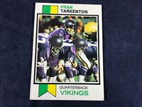 G3-79 FOOTBALL CARD - FRAN TARKENTON MINNESOTA VIKINGS CARD #60 - 1973 TOPPS