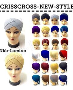 MAXI SCARF JERSEY SCARF HIJAB UNDER CAP CRISS CROOS LATEST NEW COLOURS TIE BACK