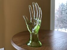 Vintage Clear Green Lucite Jewelry Display Hand Figure/Mannequin  9 1/4�x 3 1/2�