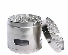 Tobacco Herb Aluminum 4 Layers Grinder 2.2 Inches Comes Scraper In Silver Color