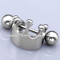 1pc 16G Steel Crown Shield Ear Helix Cartilage Cuff Ring Earring Punk Piercingam