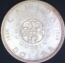 """1964 Canada Silver Dollar """"Charlottetown"""" Coin  #678"""