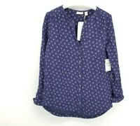 HINGE Women's Button Front Scoop Neck Top Blouse NEW Size Small NWT