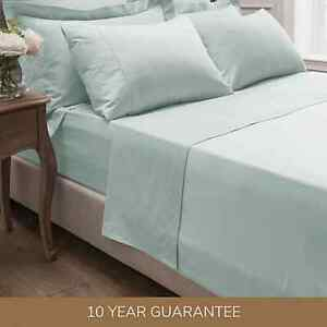 Dorma 300 Thread Count 100% Cotton Sateen Plain Fitted&Flat Sheet-Sold Separetly