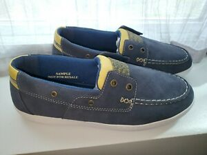Sperry Top-Sider New Blue & Yellow Suede 2-Eye Boat Shoes Men's Sneakers US 9