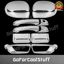 For 2011-2016 Jeep Compass Chrome Covers Mirrors+Door Handles+Rear Fog Lamps