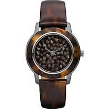 DKNY Fashion Essentials NY8649 Watch Tortoise Brown Paved Crystal Face