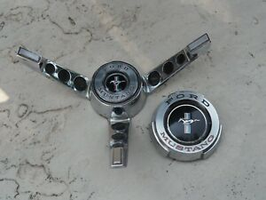 Ford Mustang Gas Cap 1964 1/2 to 1965 Running Horse Steering Wheel Horn Ring