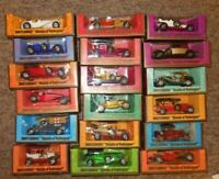 Matchbox Models Of yesteryear. Set Of 18, In Wood grain Boxes. lesney, Moy.