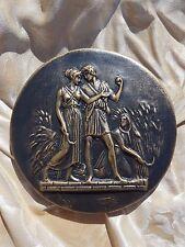 Classical Roman harvest scene Intaglio grand tour gem theme plaster wall plaque