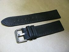 22mm Black suede genuine Euro leather watch band fancy Sports fits Swiss watches