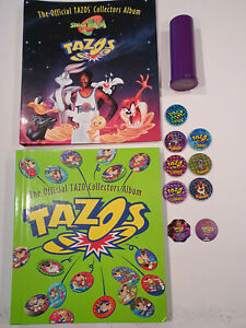 Tazo Collectors & Space Jam Albums,Slammers,Tournament Tube-170+ tazos - 1990's