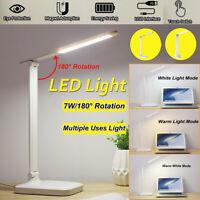 LED Tischleucht Schreibtischlampe USB Dimmbare Touch Leselampe Nachttisch Büro
