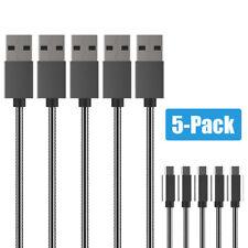 5 Pack METALL Micro USB Ladekabel Kabel Datenkabel Kordel Samsung HTC LG Huawei
