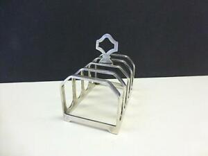 Modernist Adie Bros Sterling Silver Toast Rack Birmingham UK 2.4 oz