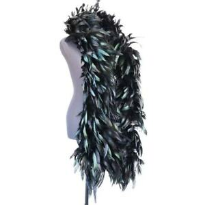 """Black Rooster Boa 72"""" 6 FT for Masquerade Costume Bachelorette Parties - 1 Piece"""
