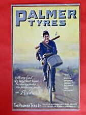 Palmer Tyres. Postman on a bicycle. 1913
