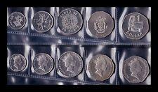 B-D-M Islas Salomon Solomon Set 5 Monedas 5 10 20 50 Cents 1 Dollar 2005 SC UNC