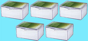 5 ULTRA PRO 100 COUNT CLEAR HINGED CARD STORAGE BOXES Case Holder Sports Trading
