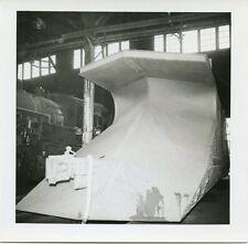 6D978  RP 1959? MONCTON NEW BRUNSWICK RAILROAD SNOW PLOW IN BARN