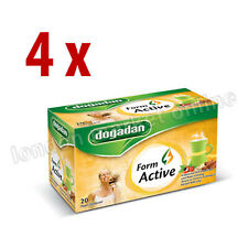 FORM ACTIVE Mixed Tea  with Cinnamon and Red Ginseng ~ 4 boxes x 20 bags
