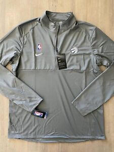 Nike NBA Toronto Raptors Team Issued LS Half Zip Pullover AV1763 002
