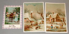"""Lot of 3 Original Victorian """" Baby Own Soap """" Advertising Trade Cards"""