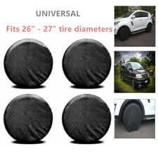 """4Pcs Wheel Tire Protector Cover 26"""" to 27'' Waterproof Tire Cover For Rv Trailer(Fits: Badger Fwd)"""