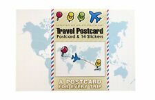 SUCK UK World Travel Postcard with Stickers