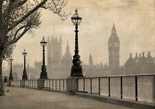 A3| Big Ben Black & White Poster Size A3 Travel Landscape Poster Gift #14491