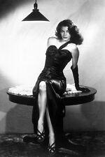 Ava Gardner iconic sexy black dress leggy on table The Killers 11x17 Mini Poster
