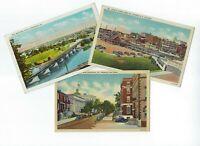 LOT of 3 Norristown Pennsylvania 1940s Vintage CURT TEICH Postcards