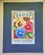 """ Pansy""  Print Matted 8 x 10  Barbara Mock"