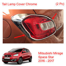 Tail Lamp Light Cover Chrome Trim 2Pc Fit Mitsubishi Mirage Space Star 2016 - 17