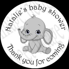 Personalised baby shower stickers Goodie bags,thank you gifts, Elephant