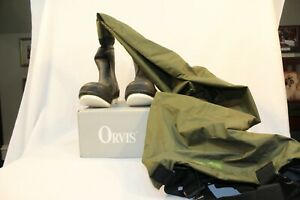 Orvis Boot foot Waders Size XL-12 Clearwater Breathable - Olive