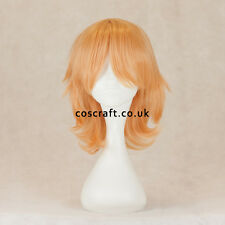 Medium flick cosplay costume wig in peach pink, UK SELLER, Ash style