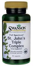 Swanson ST JOHNS WORT TRIPLE COMPLEX 60 Caps. ST JOHNS WORT BACOPA CHAMMOMILE