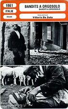 Fiche Cinéma. Movie Card. Bandits a Orgosolo (Italie) 1961 Vittorio De Seta (R2)