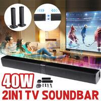 40W SOUNDBAR ALTOPARLANTI SUONO SPEAKER bluetooth PER PC TV USB Subwoofer Sound