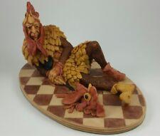 "Hap Henriksen Twit Coxcombe Royal Jester ""The Cock Of The Walk"" Resin Figurine"