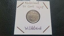 Netherlands 1948 - 25 cent Wilhelmina Koningin der Nederlanden.