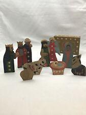 """Nativity set 4.5"""" Tin, Mexican, hand made. Holy Family, Nativity scene"""