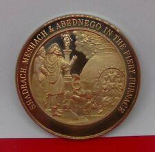 More details for bronze medal medallion religion bible shadrach mehach abednego furnace daniel